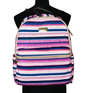 Juicy Couture striped large backpack